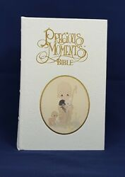 Vintage 1985 Precious Moments New King James Family Bible Red Letter Version
