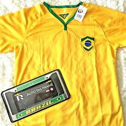BRAZIL Soccer Jersey License Plate Frame Tag New Football Fussball L World Cup