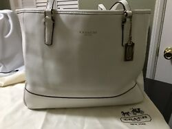 White Coach Tote Handbags Large $95.00