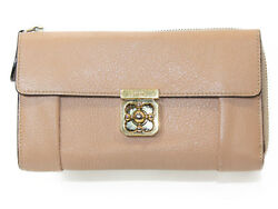 There Chloe Elsie Purse L-Shaped Zipper Flowers For Women Leather (89902