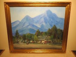 25x30 Org. Oil Painting On Board By Hardy Martin Of Tropical Mountain Village