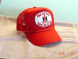 International Harvester Red Cap Bad Ass Boys Drive Bad Ass Toys New With Patch