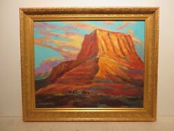 16x20 Org. 2015 Oil Painting By Hardy Martin Of John Wayne Mountain Landscape