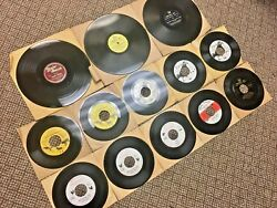 Vintage Lot 13 Game Call Vinyl Records Animal Sounds Hunting 1940s Atco Herterand039s