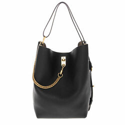 Givenchy Women's GV Bucket Bag in Grained Leather Black