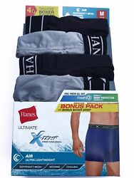 Hanes® Men#x27;s ULTIMATE X TEMP AIR 4 Pack BOXER BRIEFS quot;FreshIQ amp;TAGLESS amp; COOLquot;