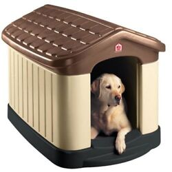 Pet Zone Tuff-n-Rugged Dog House Outdoor Medium Large Insulated Doghouse Plastic