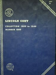 1909 - 1940 Lincoln Wheat Penny Lincoln 1c Cent Collection W/ Book 99 Complete