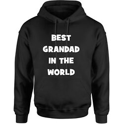 Best Grandad In The World Hoody Birthday Xmas Gift Novelty Granpa Pap Jumper