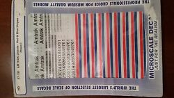 Ho Microscale Decals 87-191 Amtrak Diesels - Red And Blue Stripes Phase I Nip