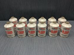 12 x R134a Refrigerant AC Pro NEW EPA REQUIRED Self-Sealing Can12 oz. 341 g