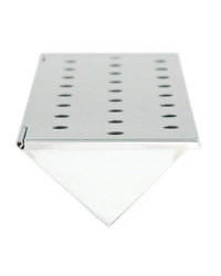 Charcoal Companion Stainless Steel V-shape Smoker Box For Gas Grill Wood Chips