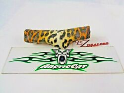 Kitty Cat Snowmobile Handle Bar Cover Yellow Cat Print Pattern Arctic Cat Snaps
