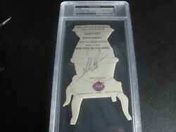 Nolan Ryan Noly Grail Of Autos Earliest Signed On Card Mets World Series 1/1