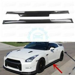 Carbon Fiber Side Skirt Replacement Bodykit Refit For Nissan GTR R35 2008-2017