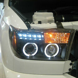 For Toyota Sequoia 08-16 Composite Head Lamp High Beam+Dipped Beam Angel Eye