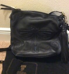 Coach Classic Duffle Anna Sui Limited Edition Large Dragonfly Black Leather NWT