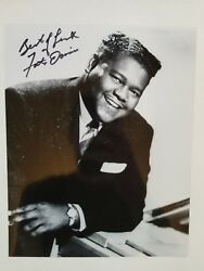 Lot Of Ten Different Signed Photos From Fats Domino