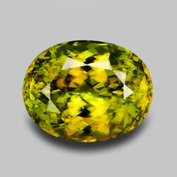 17.21CTS MARVELOUS SIZE NATURAL HONEY GREEN NATURAL SPHENE VIDEO IN DESCRIPTION