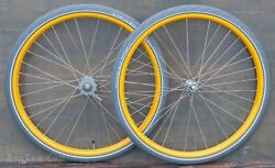 Iver Johnson Bicycle WHEELS Tires New Departure Morrow Hub Vintage Prewar Bike