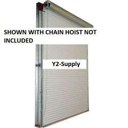 New 9 X 8 White Manual Push-up 2000 Series Roll-up Dock Door