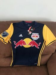Adidas New York Red Bulls Mls Soccer Jersey New With Tags Size L Youth