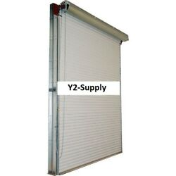 New 9 X 8 White 2000 Series Roll-up Dock Door With 41 Reduction Drive Chain