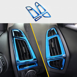 blue Interior dashboard air conditioner vent Trim fit For Ford Focus 2015-2018