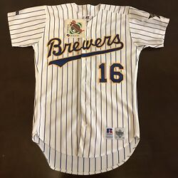 Rare Vintage 1993 Russell Mlb Milwaukee Brewers Pat Listach All Star Game Jersey