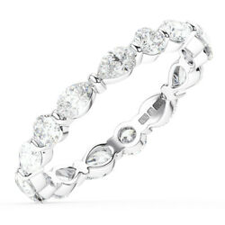 1.50ct Round And Pear Cut Diamonds Full Eternity Wedding Ring In 18k White Gold