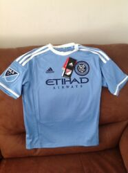 Adidas New York City Football Club Mix 10 Mls Soccer Jersey Nwt Size M Youth