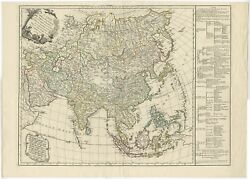Antique Map Of Asia By Vaugondy 1749