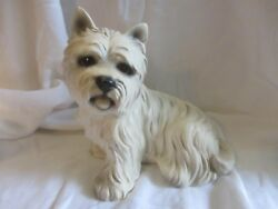 VINTAGE CERAMIC HIGHLAND TERRIER WESTIE M. TAKAI MADE IN JAPAN