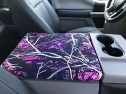 Fits Ford Trucks F150 2014-2021 Muddy Girl Center Console Lid Cover Usa Made F7m