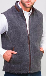 Madison Creek Outfitters Menand039s Teton Reversible Vest Dark Brown/charcoal Sherpa