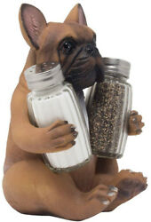French Bulldog Puppy Dog Salt And Pepper Shaker Set Figurine With Decorative Or