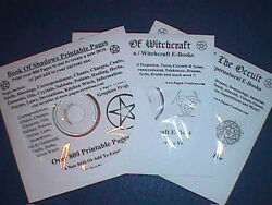 3 Cd Package Bos Pages, Wicca/witchcraft, Supernatural And Occult Ebooks On Cds