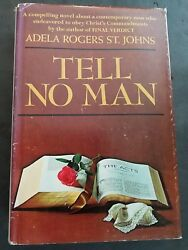 Tell No Man Hardcover Adela Rogers St. Johns 1966 1st Edition Signed By Auth