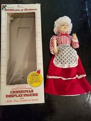 Vintage Telco Motionette Christmas Caroler Doll Figurine In Box Animated 17
