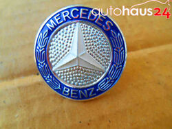 Mercedes Benz Grille Badge Emblem W126 S Class Brass And Enamel Genuine New Oem