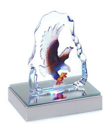 Gifts and Decor Bald Eagle Crystal Figurine Sculpture With LED Light