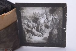 ✅ Magic Lantern Projection, Projector Slide Gustave Dore Bible Picture Glass 42