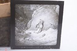 ✅ Magic Lantern Projection, Projector Slide Gustave Dore Bible Picture Glass 6