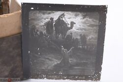 ✅ Magic Lantern Projection, Projector Slide Gustave Dore Bible Picture Glass 7