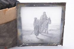 ✅ Magic Lantern Projection, Projector Slide Gustave Dore Bible Picture Glass 19