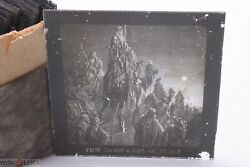 ✅ Magic Lantern Projection, Projector Slide Gustave Dore Bible Picture Glass 20