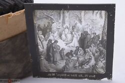 ✅ Magic Lantern Projection, Projector Slide Gustave Dore Bible Picture Glass 25