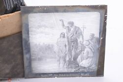 ✅ Magic Lantern Projection, Projector Slide Gustave Dore Bible Picture Glass 41