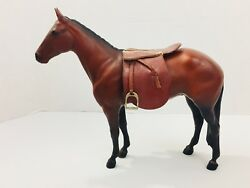 Vintage Traditional Breyer Racehorse with Saddle