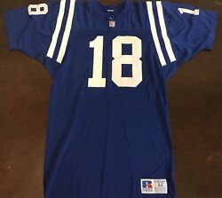 Rare Vintage Russell Nfl Indianapolis Colts Peyton Manning Football Jersey